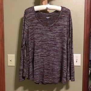 Aerie Super Stretchy and Soft V-Neck Knit Top